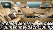Interior €500.000 Mercedes-benz S 600 Pullman Maybach 2016 6.0 V12 Biturbo 530 cv 84,6 mkgf