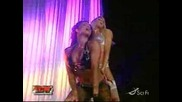 Candice Michelle and Kelly Kelly on Ecw