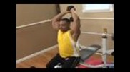 Bodybuilding Exercises : Bodybuilding: Overhead Two Hand Dumbbell Press