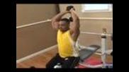 Bodybuilding Exercises : Bodybuilding: Overhead Two Hand Dumbbell Press