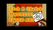 Etch A Sketch Madness! Surreal Drawing Speed Art by Raeart