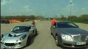 Lotus Exige S vs. Bentley Continental Gt: Der Vergleich David gegen Goliath