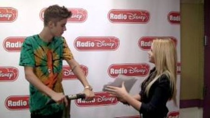 Justin Bieber and Alli Simpson at Radio Disney - Photo Challenge