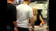 Ted Dibiase and Maryse Autograph Signin