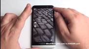 Blackberry Z30 Видео ревю - Lock Screen, Interface