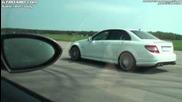 Bmw M6 наказва много лошо Mercedes C63 Amg