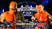 Wwe Wrestlemania 25 - Triple H v Randy Orton - Wwe Chanmpionship (full Match + Promo) Hd