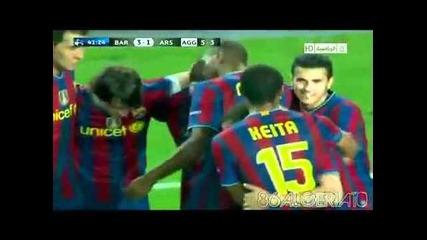 Lionel Messi голове срещу Arsenal