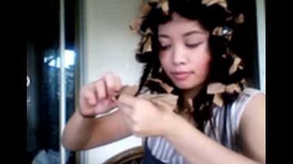 как да си накъдрим косата с хартийки