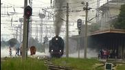 Атракционен влак с парни локомотиви 01.23 и 03.12