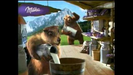 реклама на милка с алпийско мляко
