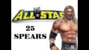 Wwe All Stars: 25 Ways to hit the Spear Ft. Edge