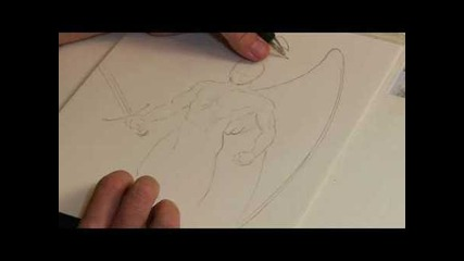 Уроци по рисуване - Как се рисуват ангелски крила