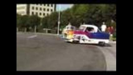 Nash Drag Race car burnout