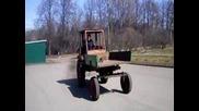 Т16 вдига предни гуми