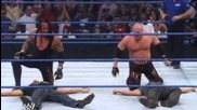 Mistake by Edge, Chavo, Hawkins and Ryder to attack Kane and The Undertaker
