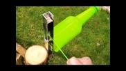 Гениален уред за превръщане на шишета в корда