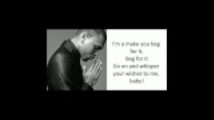 Chris Brown - Beg For It Lyrics