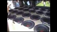 ridiculous 24 true bass 10 inch speakers in a Dodge Caravan