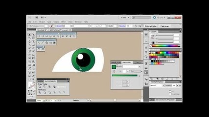 Adobe Illustrator Cs5 Tutorial 8 | Anime Eyes