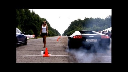 Moscow Unlim 500 Lamborghini Murcielago Lp640 vs Audi Rs6 Evotech