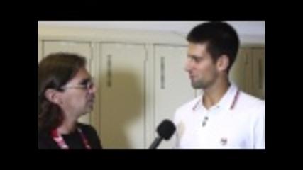Новак Джокович се подигра с журналист-удари го в топките