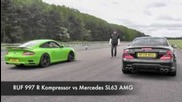 Ruf 997 R Kompressor vs Mercedes Sl63 Amg