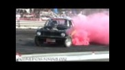 Black Rdp Lj burnout at Ingham car show