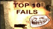 Counter-strike 1.6 Top 10 Fails - 2011/2012