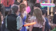Bella Thorne with Kailey Swanson & Adam Irigoyen meet fans while departing Wreck It Ralph Premiere