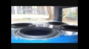 """4 18"""" Dd subwoofers in Dodge Caravan - Sixdogs1 and Safaribass"""