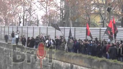 Поставяне на паметна плоча на Мара Бунева в Скопие (12.01.2014)