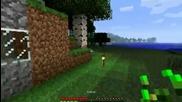 Minecraft оцеляване еп.3 Строене на къща.