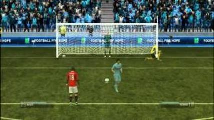 Fifa 12 - Дузпи # 1 - Манчестър Сити - Манчестър Юнайтед