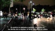 Протеста пред парламента в Мадрид