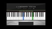 Урок по пиано   Бетовен - На Елиза