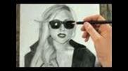 Как да нарисуваме Lady Gaga-стъпка по стъпка!!!