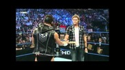 Edge and Cody Rhodes segment, Ted Dibiase attacks Cody Rhodes (hq)