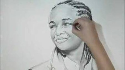 Jaden Smith-charcoal Drawing - Amane