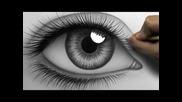 Как се рисува реалистично око :)