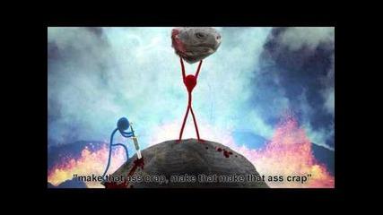 Dick Figures Music - Bath Rhymes (fan Create Music Video) + Lyrics!