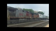 Bnsf 5338 Z-train Meets Amtrak 4 Leading Train #4