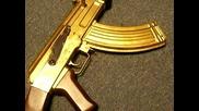 Златен Ак-47 аерсофт