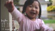 Момиченце за първи път се любува на дъжда