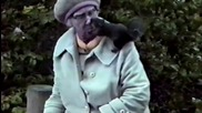 Old Woman Trains Wild Squirrel to Kiss