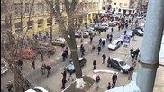 В Харков дали отпор на спецназу на улице Чернышевского. Харьков Харков. 08.04.2014