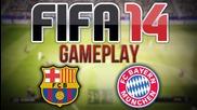 Fifa 14 Gameplay - Barcelona v Bayern Munich 2st half