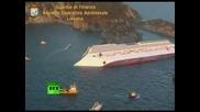 руизен кораб заседна: По-въздушни гледки на Costa Concordia