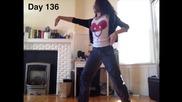Момиче се учи да танцува в една година (времето изтича)