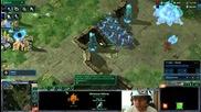 Starcraft2- Spaski Protos vs Teran много маринери + мини спрени от 3 оракъла и сталкери
